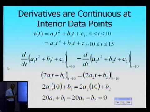 Quadratic Spline Interpolation: Example: Part 1 of 2